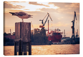 Canvas print  Hamburg Harbour - Alexander Voss