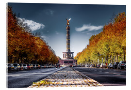 Acrylglas print  Victory Column Berlin during Fall - Sören Bartosch