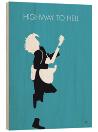 Hout print  AC/DC - Highway To Hell - chungkong