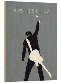 Hout print  Bruce Springsteen - Born In The U.S.A. - chungkong
