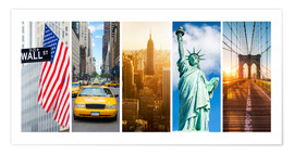 Premium poster New York City Panorama Photo Collage
