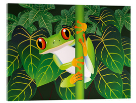 Acrylglas print  Hold on tight little frog! - Kidz Collection