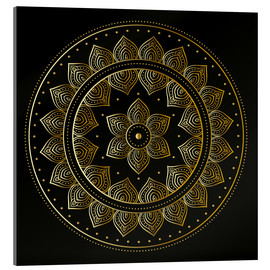 Acrylglas print  Mandala on black