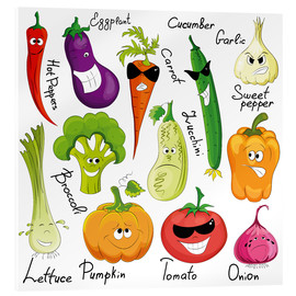Acrylglas print  Funny vegetables - Kidz Collection
