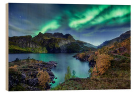 Hout print  Northern Lights, Norway - Christian Möhrle