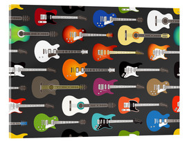 Acrylglas print  Guitar pattern - Kidz Collection
