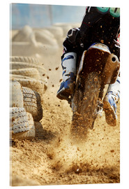 Acrylglas print  Motocross bike racing