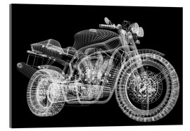 Acrylglas print  Motorcycle, 3d model