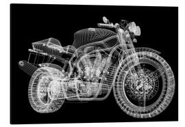 Aluminium print  Motorcycle, 3d model