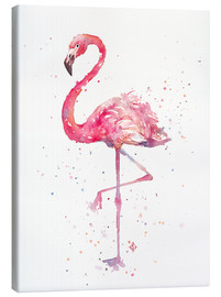 Canvas print  Sierlijke flamingo - Sillier Than Sally