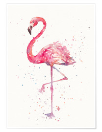 Premium poster  Sierlijke flamingo - Sillier Than Sally