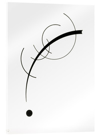 Acrylglas print  Free Curve to the Point - Wassily Kandinsky