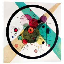 Acrylglas print  Circles in a circle - Wassily Kandinsky