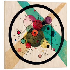 Hout print  Circles in a circle - Wassily Kandinsky