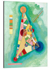 Aluminium print  Variegation in the triangle - Wassily Kandinsky