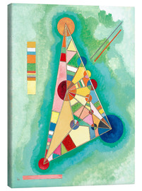 Canvas print  Stained in Triangle - Wassily Kandinsky