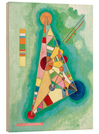 Hout print  Stained in Triangle - Wassily Kandinsky