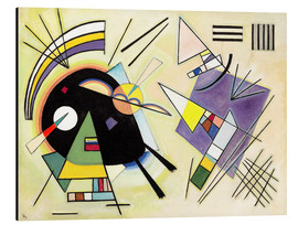 Aluminium print  Black and purple - Wassily Kandinsky