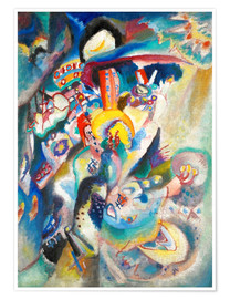 Premium poster  Moscow II (Red Square) - Wassily Kandinsky