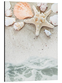 Aluminium print  Sea Beach with starfish