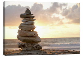 Canvas print  Little tower of pebbles