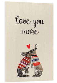 PVC print  Love you more - GreenNest