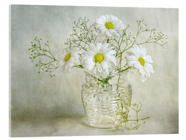 Acrylglas print  Still life with Chrysanthemums - Mandy Disher