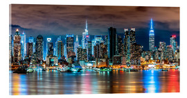 Acrylglas print  Midtown Skyline by Night, New York - Sascha Kilmer