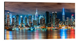 Aluminium print  Midtown Skyline by Night, New York - Sascha Kilmer