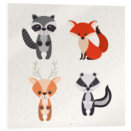 Acrylglas print  Forest animals - Kidz Collection