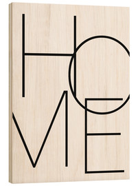 Hout print  Home - thuis - Finlay and Noa