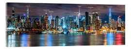 Acrylglas print  New York - Manhattan Skyline (with captions) - Sascha Kilmer