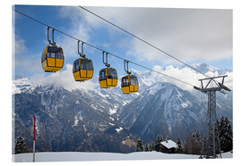 Acrylglas print  Cable car in the Alps