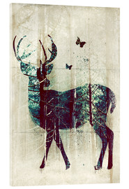 Acrylglas print  Deer in the Wild - Sybille Sterk