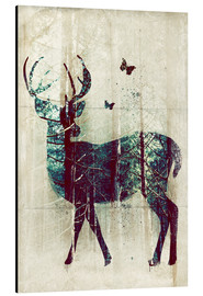Aluminium print  Deer in the Wild - Sybille Sterk