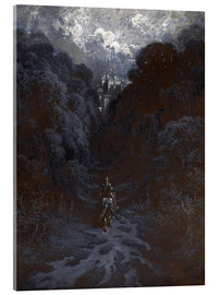 Acrylglas print  Sir Lancelot Approaching the Castle of Astolat - Gustave Doré