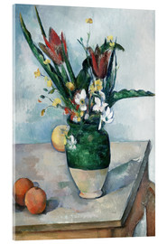Acrylglas print  The Vase of Tulips - Paul Cézanne