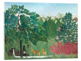 Acrylglas print  The waterfall - Henri Rousseau