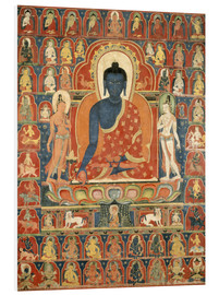 PVC print  Thangka with the Medicine Buddha - Tibetan School