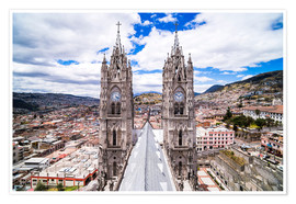 Premium poster  Old town of Quito - Matthew Williams-Ellis
