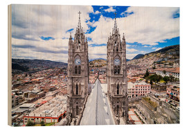 Hout print  Old town of Quito - Matthew Williams-Ellis