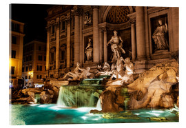 Acrylglas print  Trevi Fountain in the night - Reynold Mainse