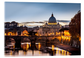 Acrylglas print  St. Peter's Basilica at sunset - Reynold Mainse