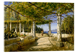 Acrylglas print  Pergola on Capri overlooking the Vesuvius - Peder Mørk Mønsted