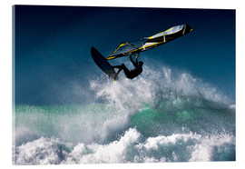 Acrylglas print  Windsurfer in the air - Ben Welsh
