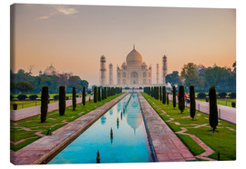 Canvas print  Sunrise at the Taj Mahal - Laura Grier