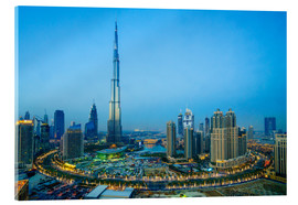 Acrylglas print  Burj Khalifa and Downtown Dubai at dusk - Fraser Hall
