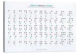Canvas print  Braille alfabet (Engelse bedrukking, geen echte braille) - Typobox