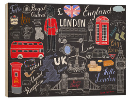 Hout print  London at a glance