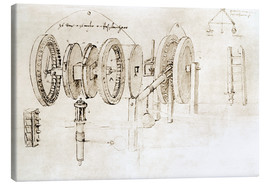 Canvas print  Mechanical design - Leonardo da Vinci